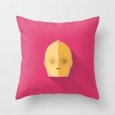 C3PO Minimalist Poster Throw Pillow
