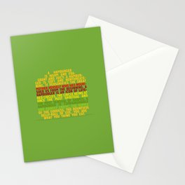 Your are what you think you eat Stationery Cards