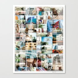 Miami, Florida Montage Canvas Print