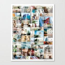 Miami, Florida Montage Canvas Print