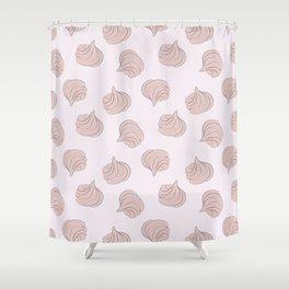Meringues pattern Shower Curtain
