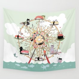 The Sushi Wheel Wall Tapestry