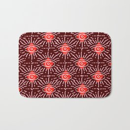 Dainty All Seeing Eye Pattern in Reds Bath Mat