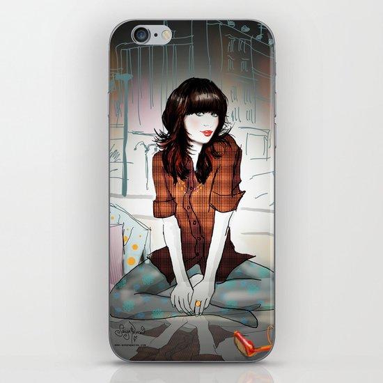 Zooey Deschanel Night iPhone Skin