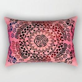 Pink Galaxy Mandala Rectangular Pillow