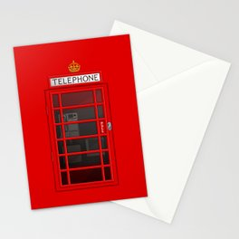 RED TELEPHONE BOX BOOTH PHONE BOX Stationery Cards