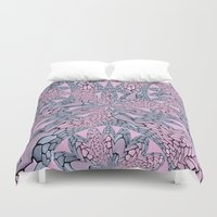 pantone Duvet Covers featuring Flowery Texture - Pantone by Bella Mahri-PhotoArt By Tina