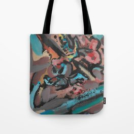 Different Viewpoints Modern Abstract Painting Tote Bag