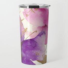 Pink and Purple Travel Mug