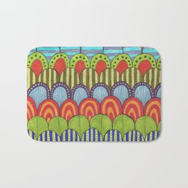 bright scalloped pattern 2 Bath Mat