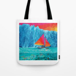 Sunrise Sails in the Arctic Ocean Tote Bag