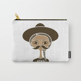 Viva Zapata - White Carry-All Pouch