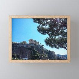 Seacoast of Sorrento in summer Framed Mini Art Print