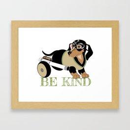 Ricky Bobby #3: Be Kind Framed Art Print