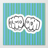 blues brothers Canvas Prints featuring [ Blues Brothers ] Elwood Blues Dan Aykroyd by Vyles