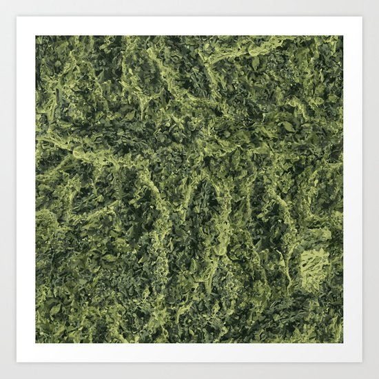 Plant Matter Pattern Art Print