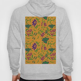 abstract seamless floral pattern exotic shapes Hoody