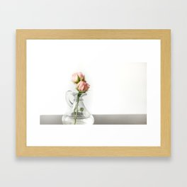 Faded pink baby rose bouquet Framed Art Print