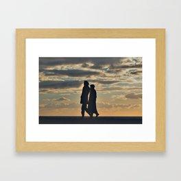 Sunset in Brighton. Framed Art Print
