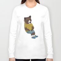 nike Long Sleeve T-shirts featuring Bear in Nike by Diana Hope