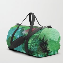 Blue Textured Abstract Duffle Bag