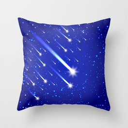 Space background with stars and comets Throw Pillow