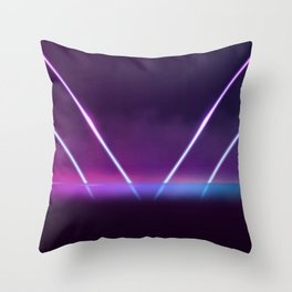 Retro Metallic 80s Design  Throw Pillow