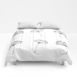 Ginkgo biloba pattern II Comforters