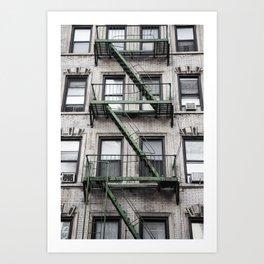 NY Green Art Print