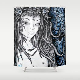 Blau Lha Shower Curtain