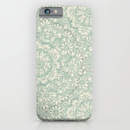 Sage Medallion with Butterflies & Daisy Chains iPhone Case