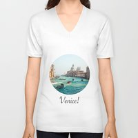venice V-neck T-shirts featuring Venice! by Adrian Lungu