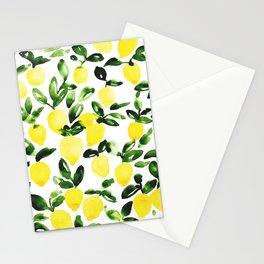 Summer Lemons Stationery Cards