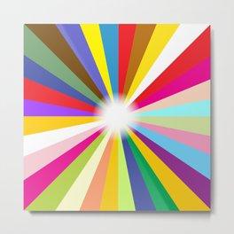 Bright Ray Background Metal Print