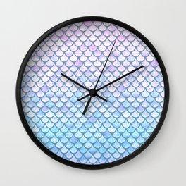 Lavender Mermaid Scales Wall Clock