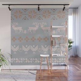 Scandi Knit Ornaments pattern 7 Wall Mural