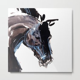 Horse (Wild head) Metal Print