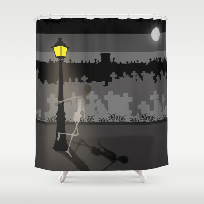 HaPPy CrEEpY HaLLoWeeN Shower Curtain By Absentisdesigns