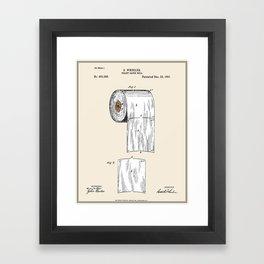 Toilet Paper Roll Patent - Colour Framed Art Print