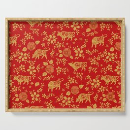 Chinese New Year Ox Zodiac Serving Tray