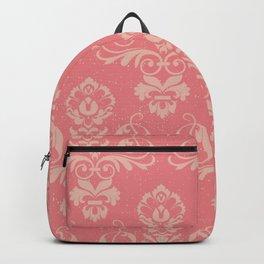 Dusty Rose Vintage Damask Backpack