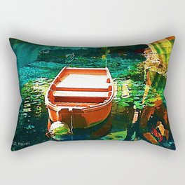 A Row Boat to Nowhere Rectangular Pillow