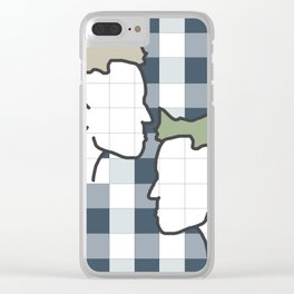 Life in gingham Clear iPhone Case