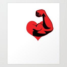 Bodybuilder Gym Trainers Training Barbells Weightlifter I Heart Weightlifting Gift Art Print
