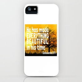 Bible King James Book Pages Verse Quotes Scriptures Story iPhone Case