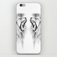 lions iPhone & iPod Skins featuring Lions by Libby Watkins Illustration