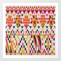 Aztec pattern design Art Print