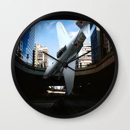 Plane falling pause capture abstract surreal Wall Clock