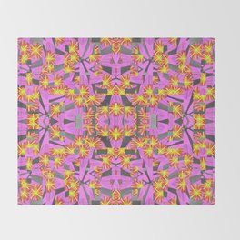 Flower Rockets Blast Throw Blanket