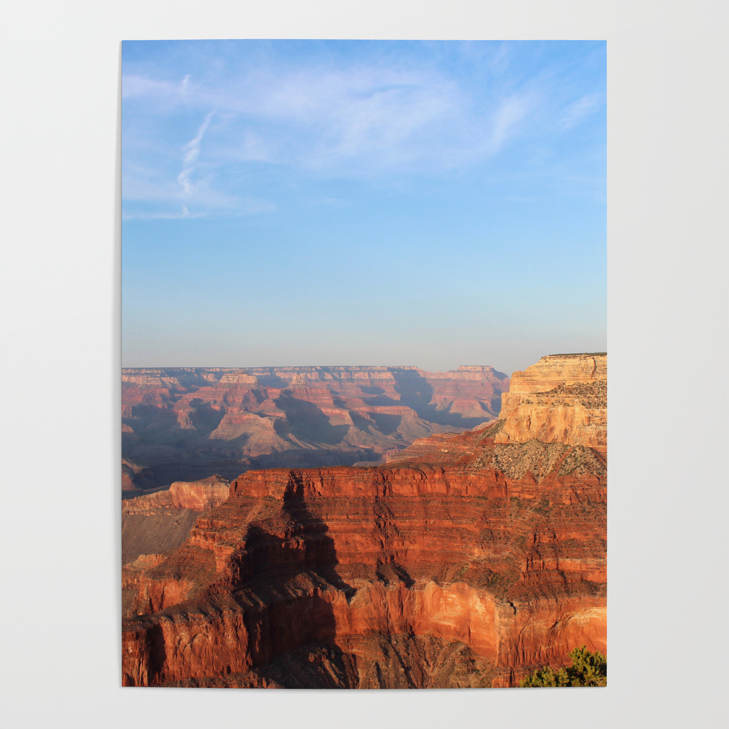 Grand Canyon South Rim At Sunset Poster By Sjkramer001